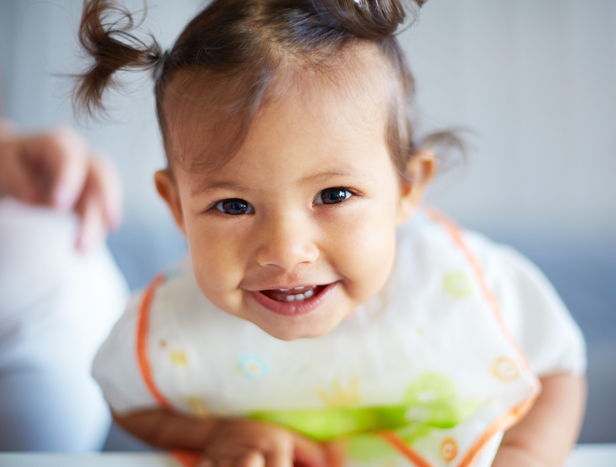 Portrait of a smiling cute toddler